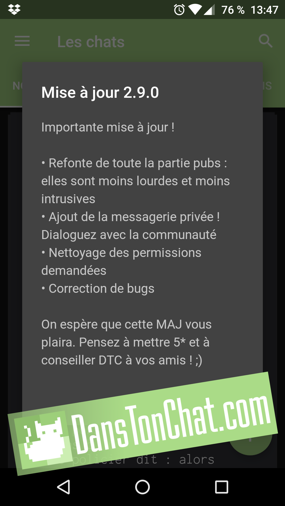Appli DTC version 2.9.0
