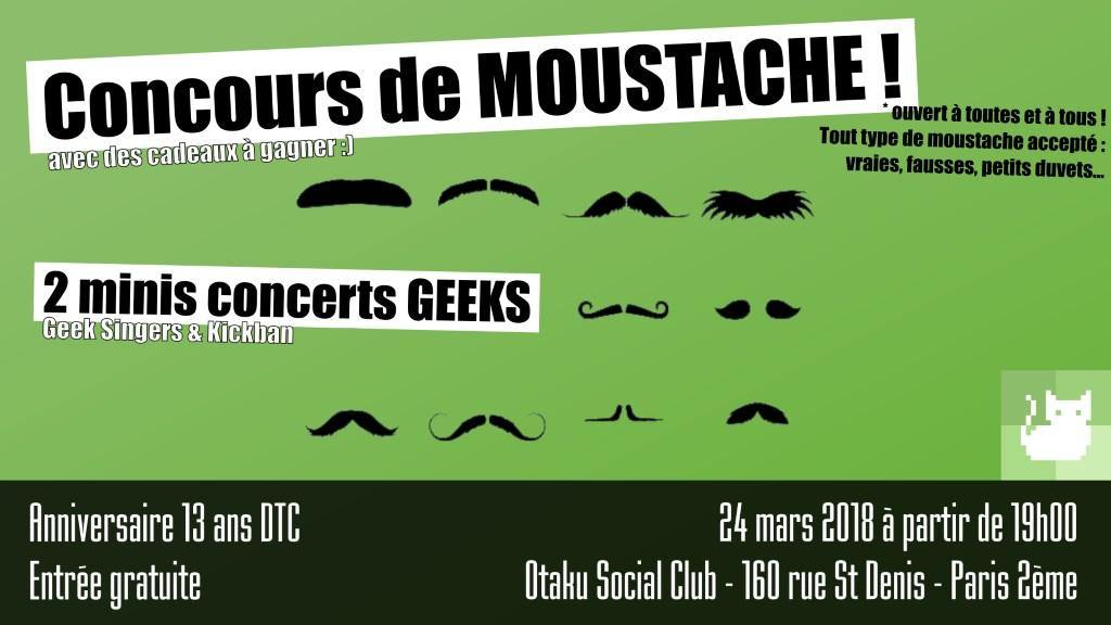 Concours de moustache - IRL anniversaire 13 ans DansTonChat